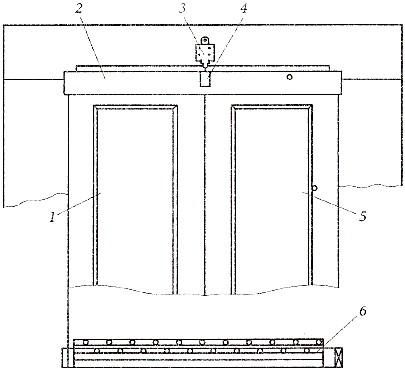 Распашные двери кабины