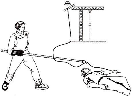 Освобождение пострадавшего от действия электрического тока